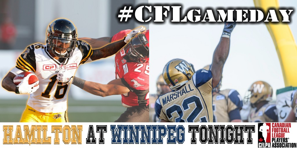 This week's highlighted players are Brandon Banks (#16 Hamilton Tiger Cats) and Cameron Marshall (#32 Winnipeg Blue Bombers)!
